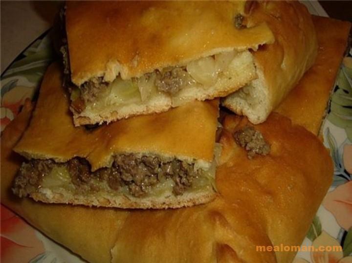 Пироги с мясной начинкой рецепты с фото пошагово