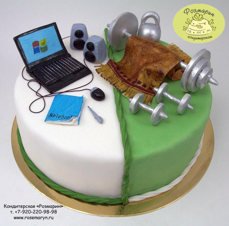 Торт с дизайном для мужчин