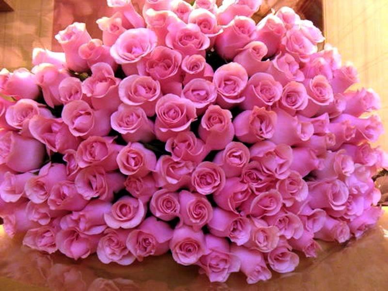 Поздравление из роз