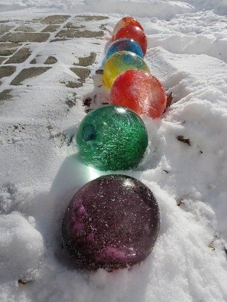Цветные ледяные шары как сделать