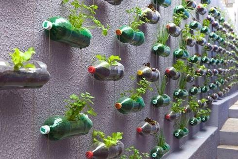 На даче из пластиковых бутылок