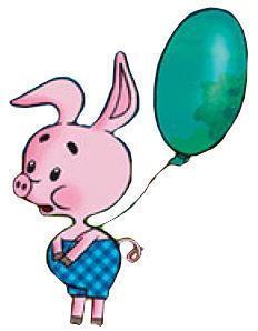 картинка пятачка с воздушными шарами настоящим