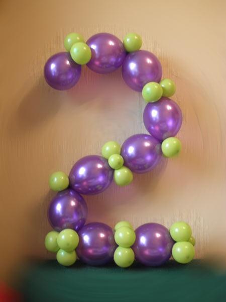Как сделать цифру из шаров своими руками пошаговое фото