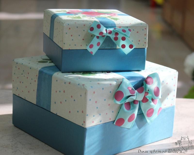Как сделать большую коробку для подарка видео