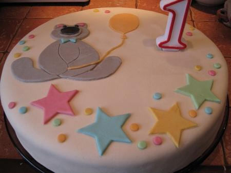 Украсить торт своими руками на 1 год