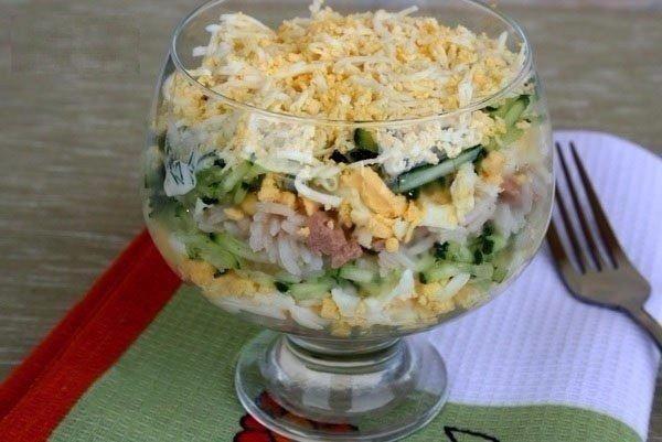 Салат с печенью трески фото