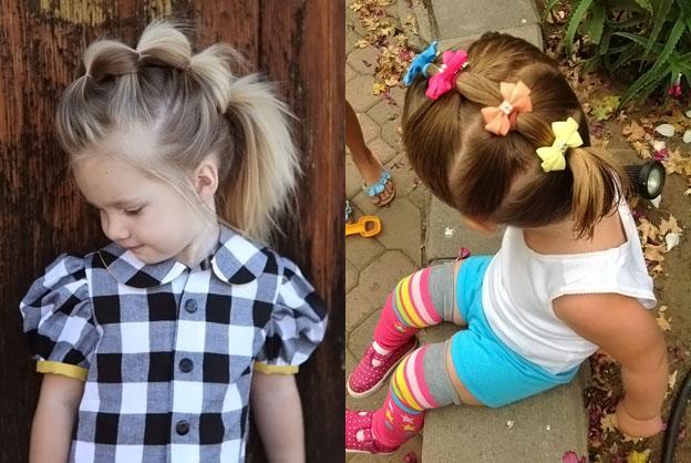 Прически для девочки в детский сад