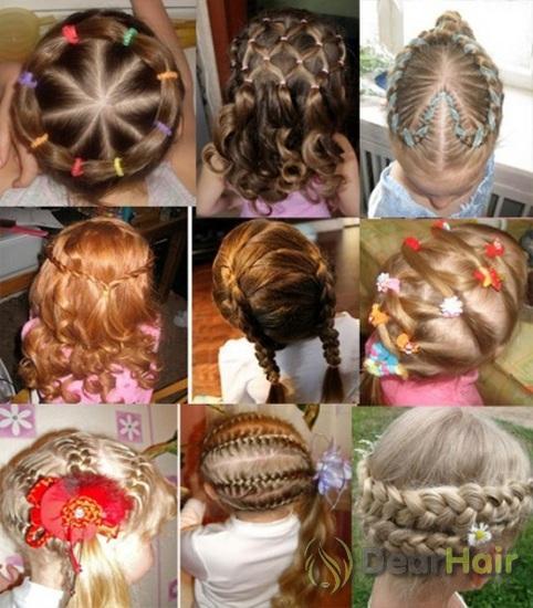 красивые детские прически на средние волосы картинки