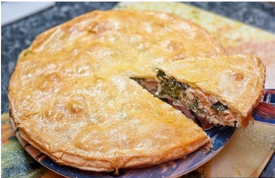 Пироги с семгой из слоеного теста рецепты