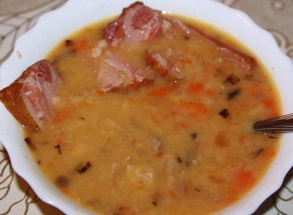 Рецепт горохового супа с рулькой копченой