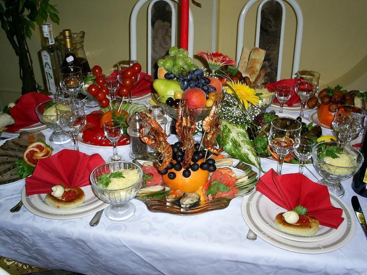 Гифы праздничный стол