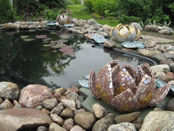 Ракушки и камни в декоре