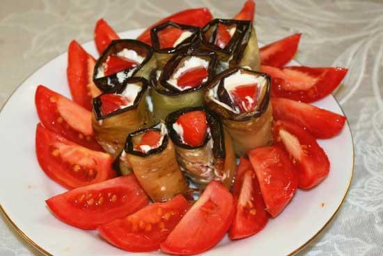 Рецепт тещин язык из баклажанов и помидоров