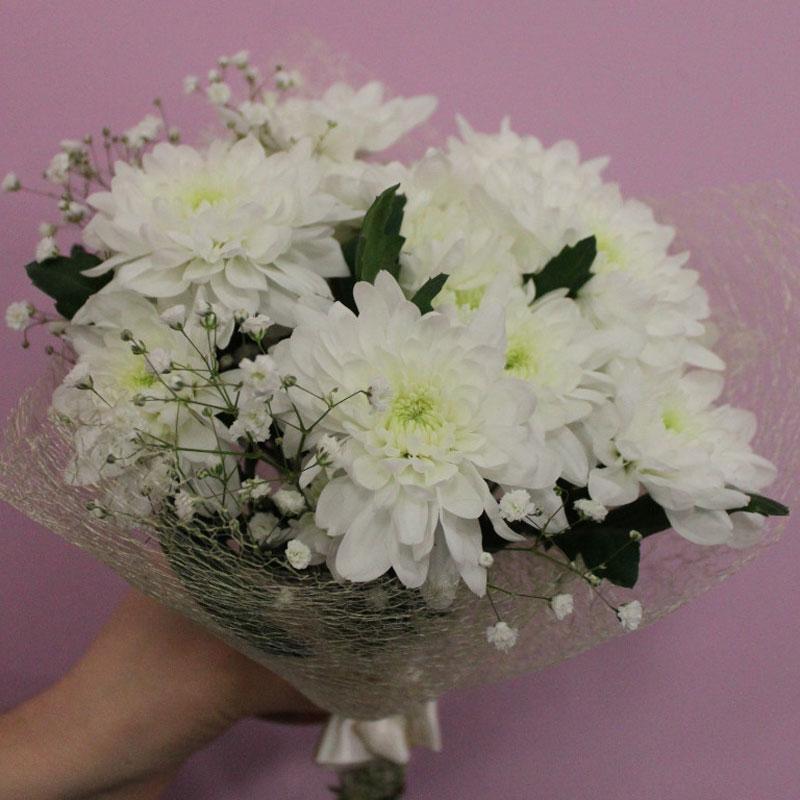 Букеты из хризантем своими руками фото 12
