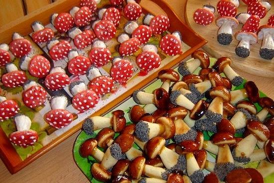 Выпечка грибочки в форме рецепт с фото