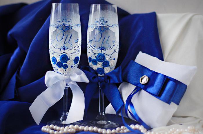Все для свадьбы в синем цвете фото