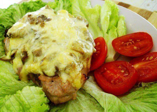 Свинина с белыми грибами и сыром в духовке рецепты
