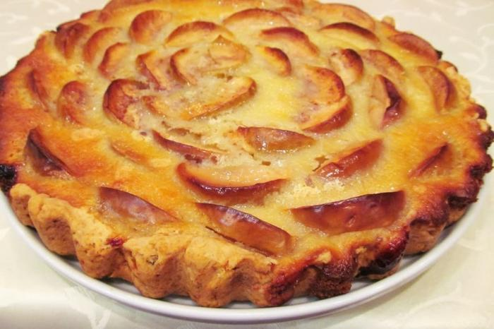 Пирог с яблоками очень вкусный с фото