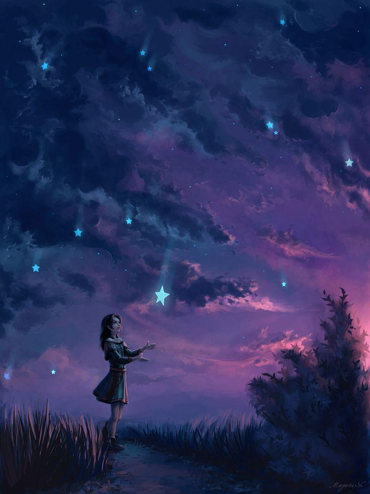 Рисую одно и то же звезды