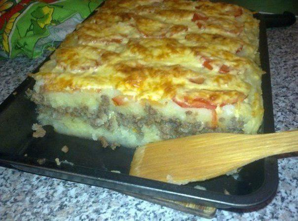 Фарш с картошкой в духовке с сыром рецепт с пошагово в духовке