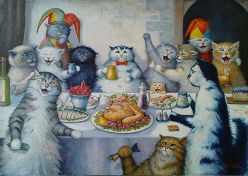 Открытка в день рождения с котом