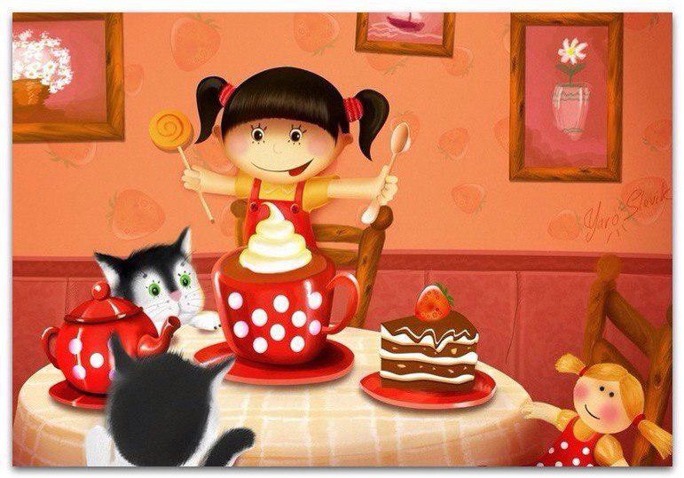кот возле торта фото