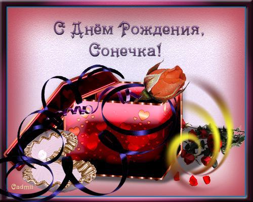 Поздравления с днем рождения подруге сони
