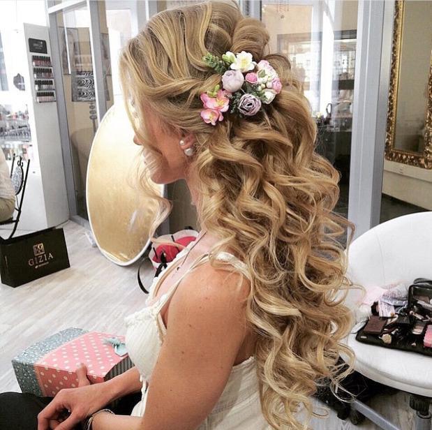 красивые свадебные прически с длинными волосами