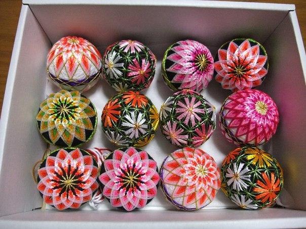 Японские шары темари