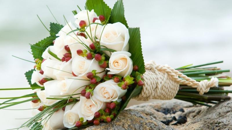 розы, букет, зелень бесплатно