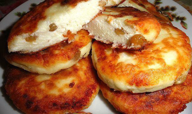 Сырники из творога и изюма рецепт с пошагово