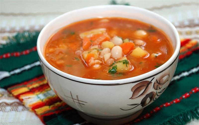 Суп куриный с фасолью красной рецепт