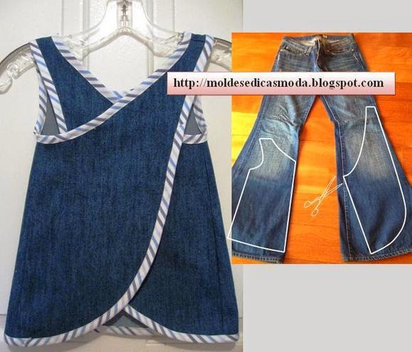 Как сшить новые джинсы из старой джинсы