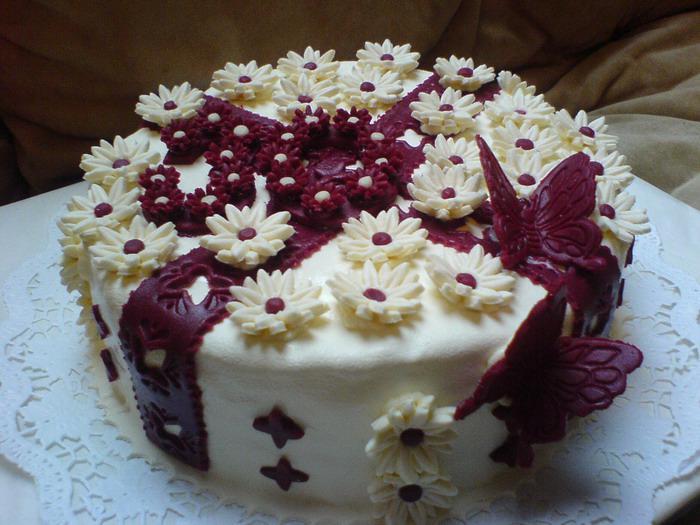 Торт праздничный.фото