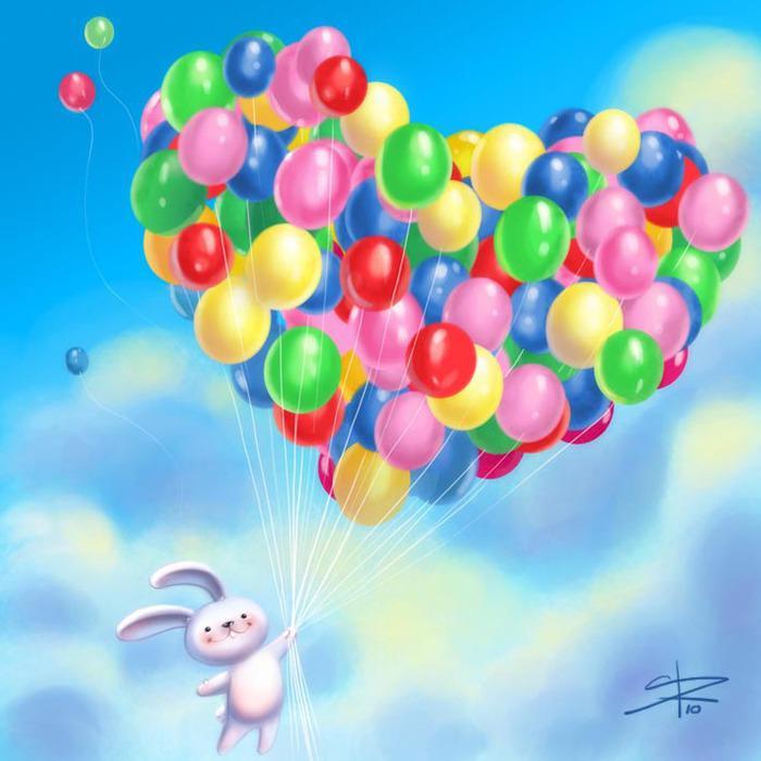 Поздравление пожелание с воздушными шариками