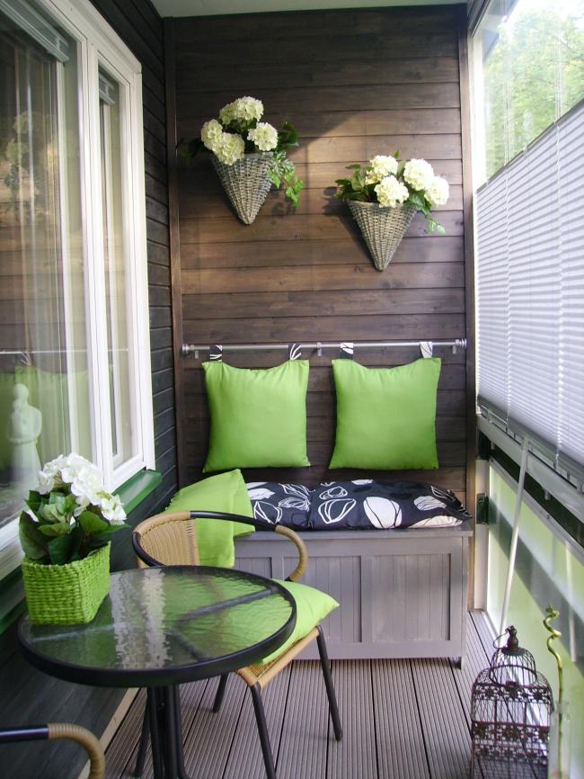 Интерьер своими руками балкона в квартире фото