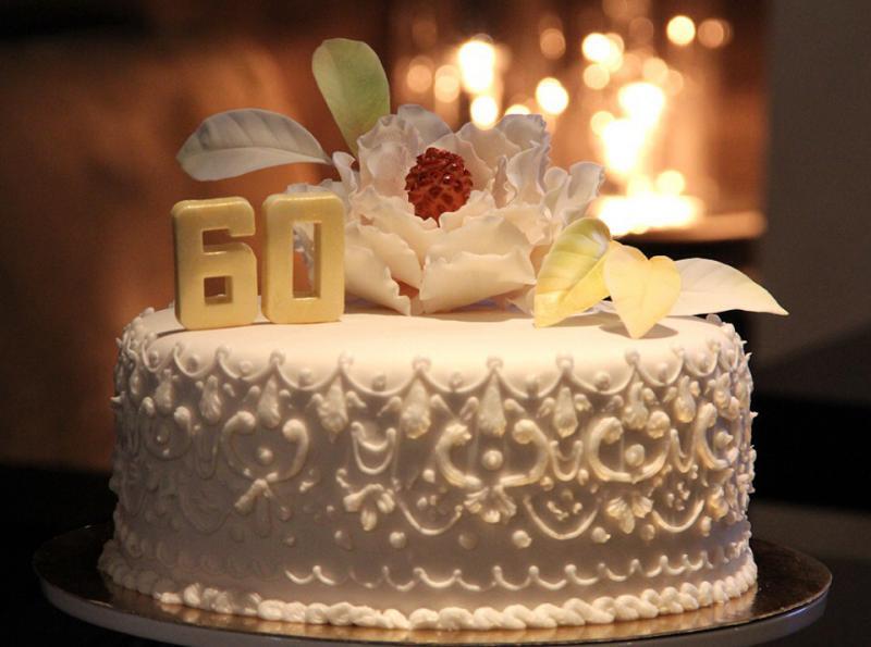 Торты на бриллиантовая свадьба
