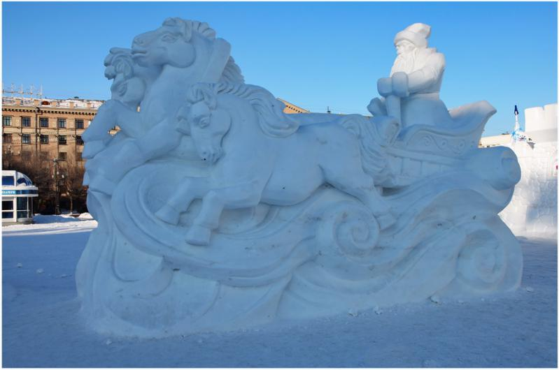 Как сделать из снега скульптуры