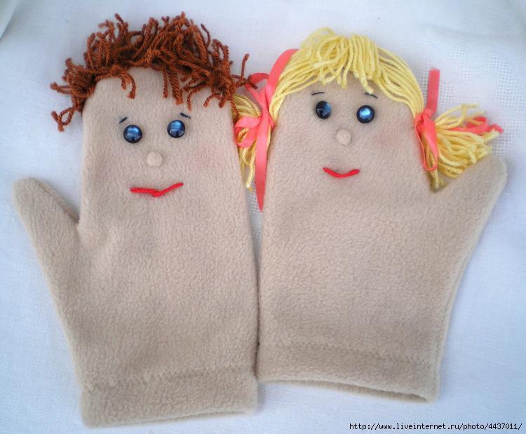 Поделки из перчатки и варежки 14