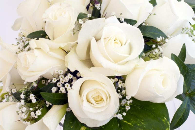 Открытка с днем рождения с розами белыми 80