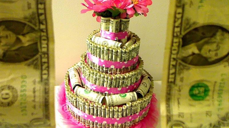 Поздравления к торту из денег 17