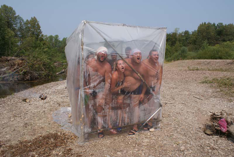 Как сделать баню в походных 119