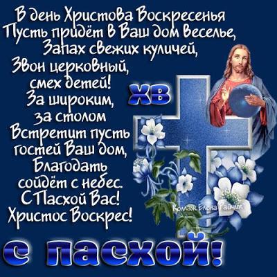 Смс поздравления христовым воскресением