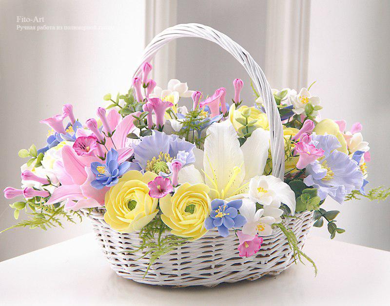 Фото красивых корзинок с цветами
