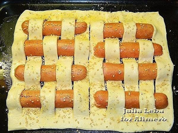 Сосиска в тесте ромашка рецепт с фото