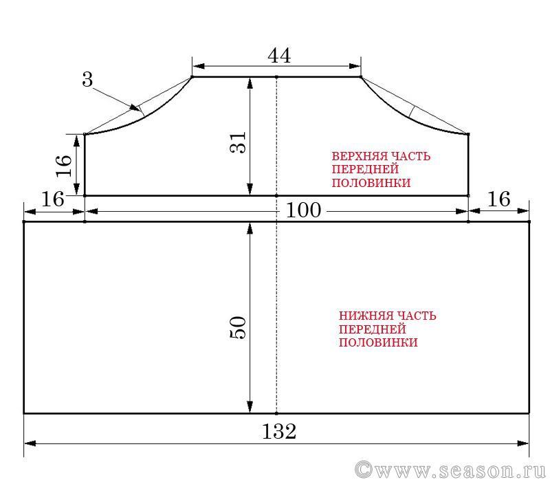 Выкройка жилета в стиле бохо 127