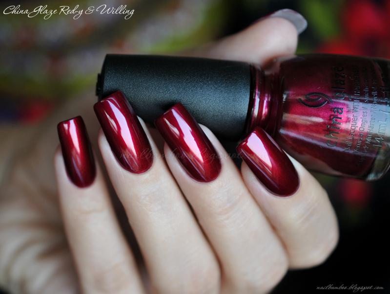 Втирка для ногтей красный