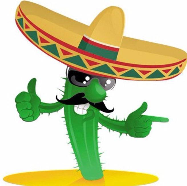 Кактус для мексиканской вечеринки