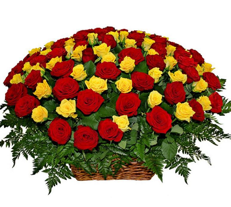Большой букет цветов на день рождения