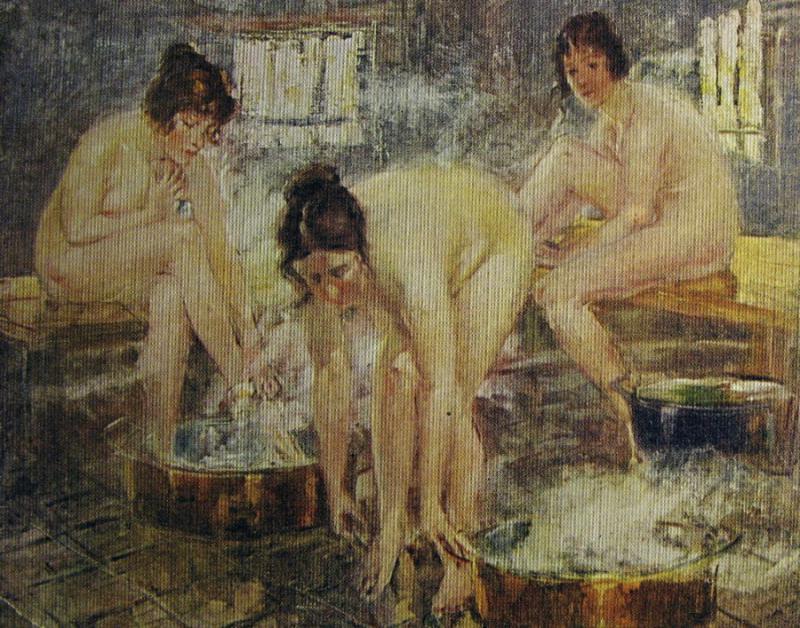 якобы снят как девушка моется в бане явно знает, как